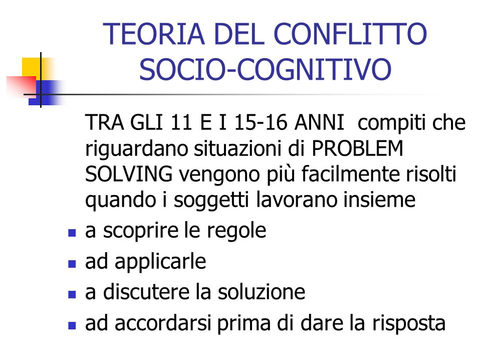 TEORIA DEL CONFLITTO SOCIO-COGNITIVO