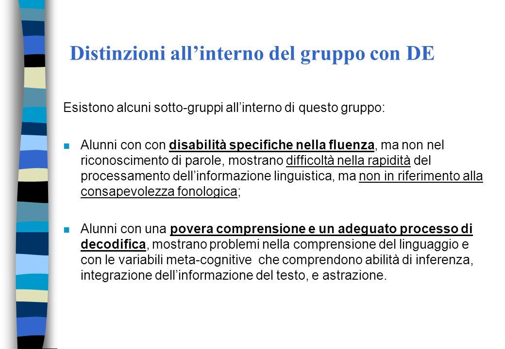 Distinzioni all'interno del gruppo con DE