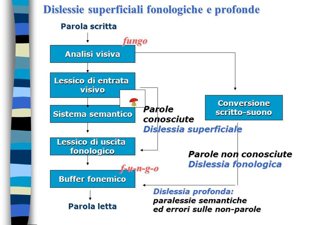 Dislessie superficiali fonologiche e profonde