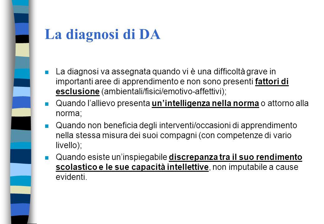 La diagnosi di DA