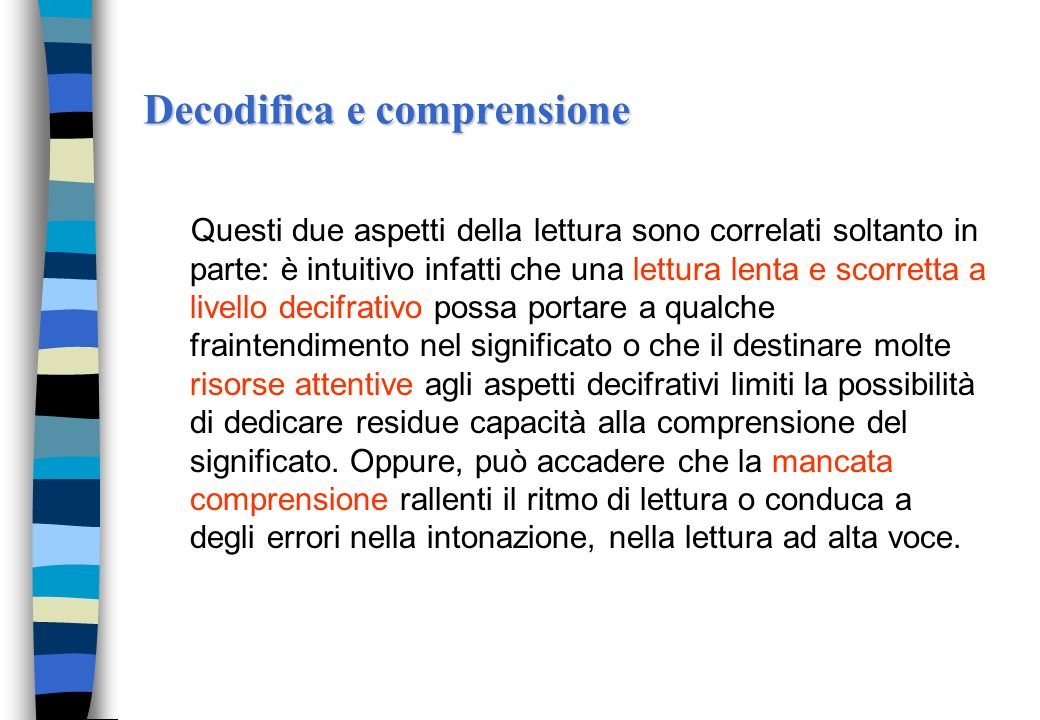 Decodifica e comprensione