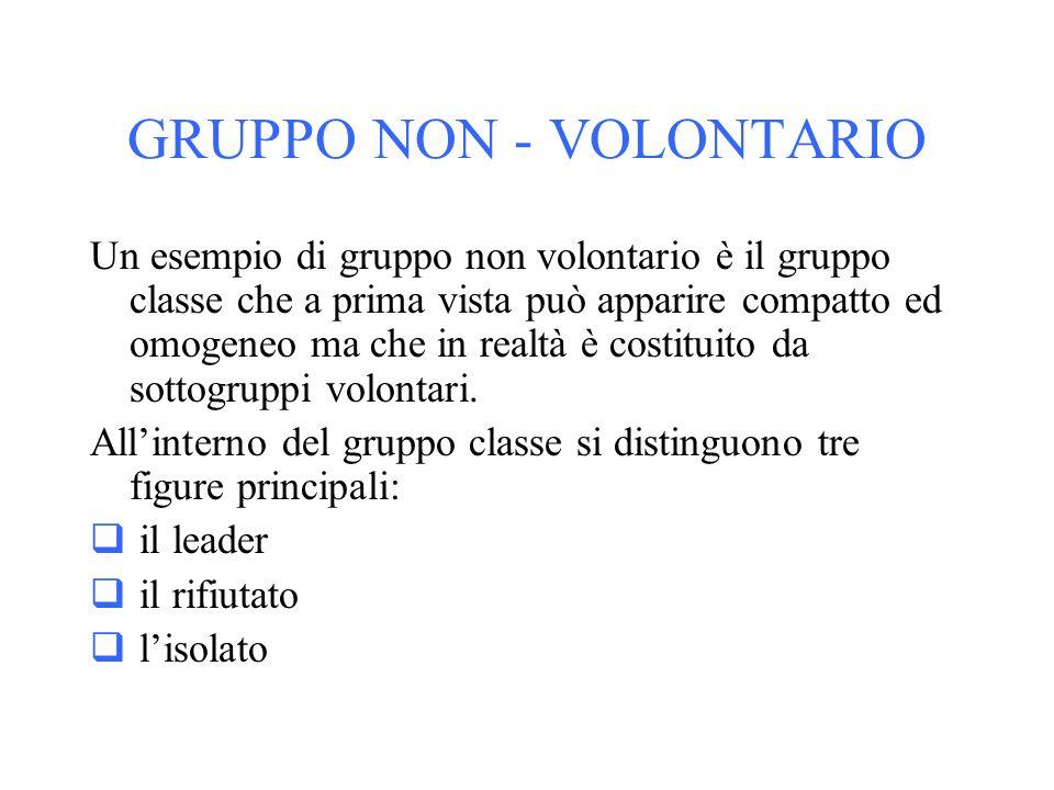 GRUPPO NON - VOLONTARIO