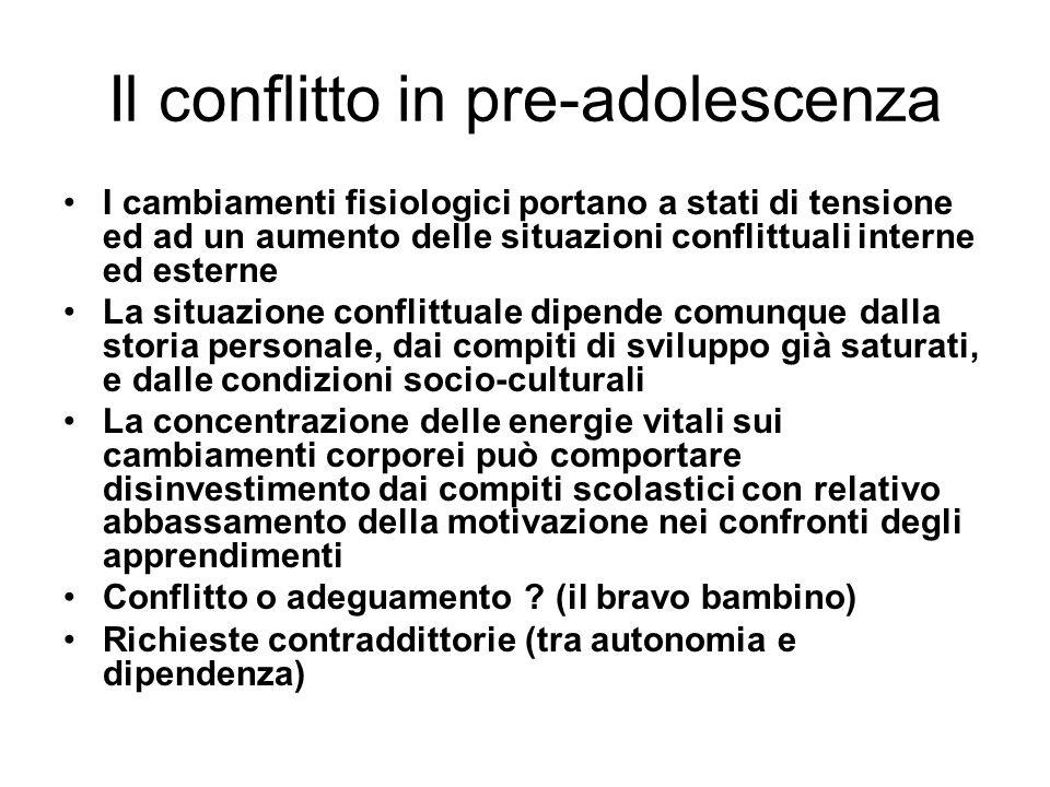 Il conflitto in pre-adolescenza