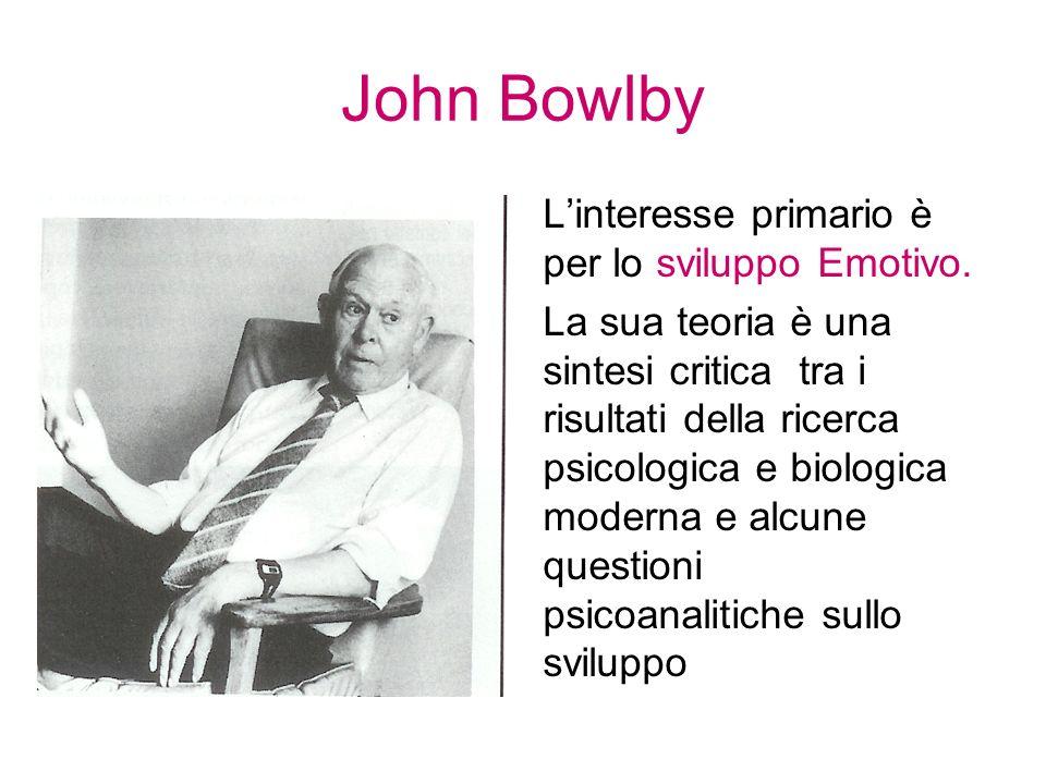 John Bowlby L'interesse primario è per lo sviluppo Emotivo.