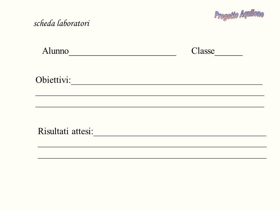 Progetto Aquilone scheda laboratori