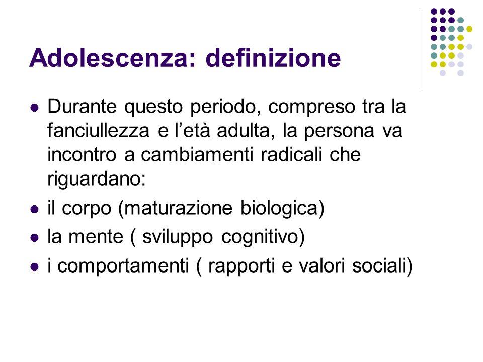 Adolescenza: definizione