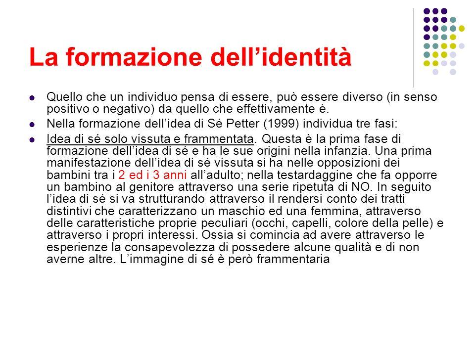La formazione dell'identità