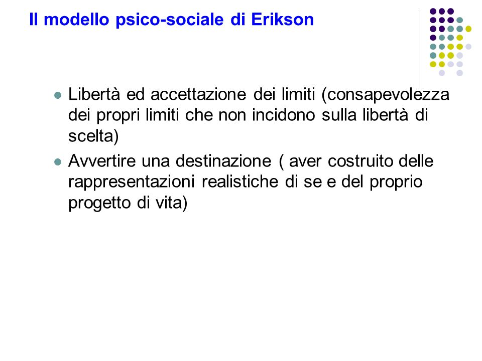 Il modello psico-sociale di Erikson