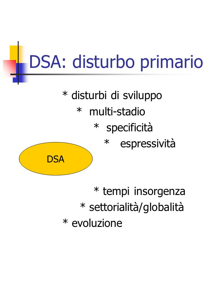 DSA: disturbo primario
