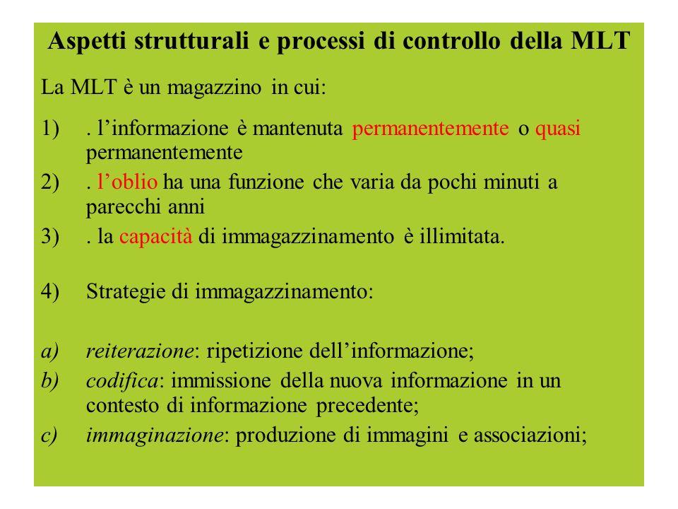 Aspetti strutturali e processi di controllo della MLT