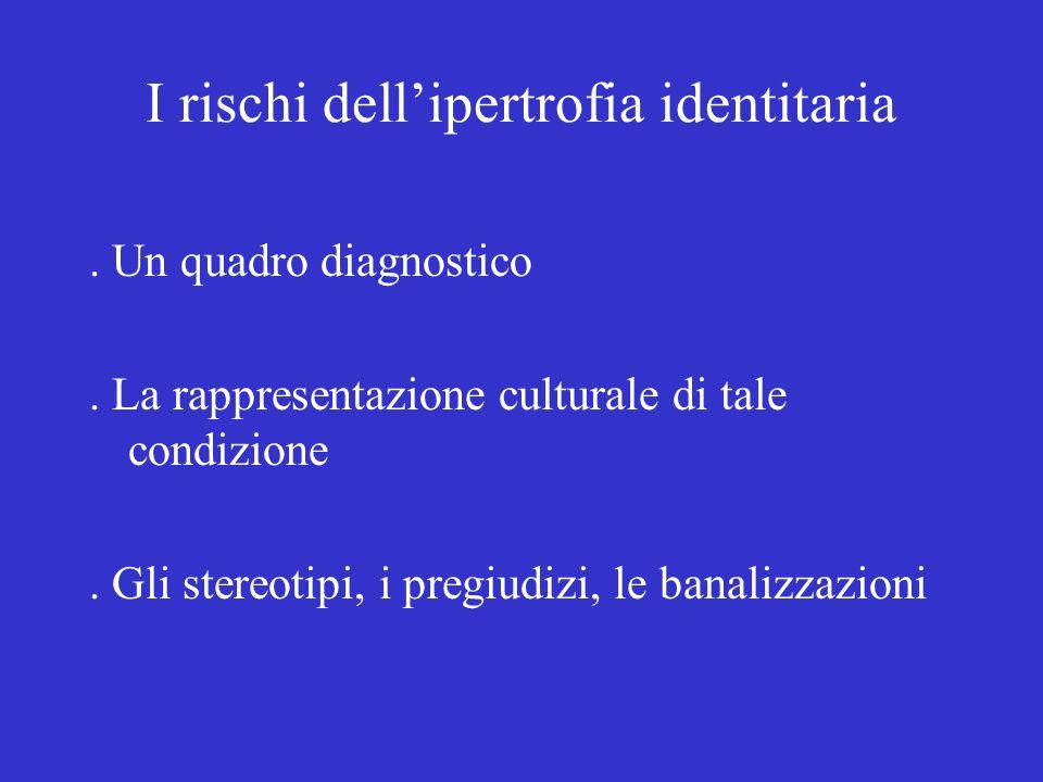 I rischi dell'ipertrofia identitaria