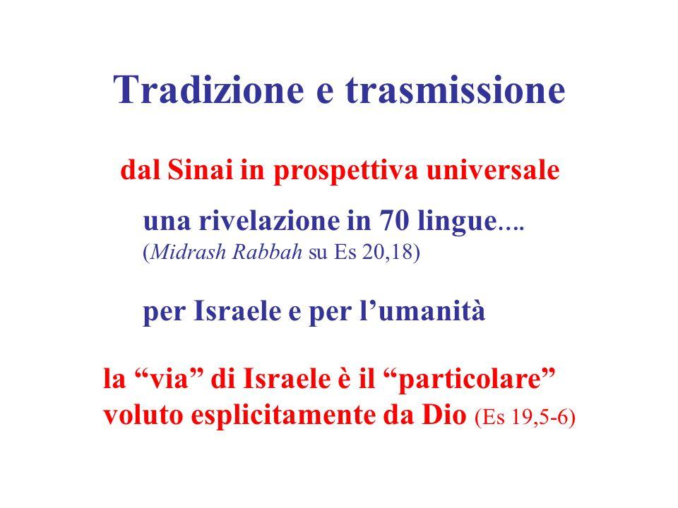 Tradizione e trasmissione