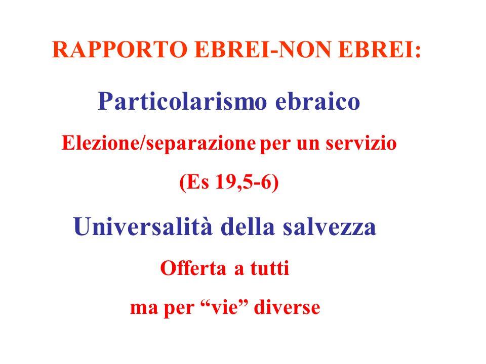 RAPPORTO EBREI-NON EBREI: