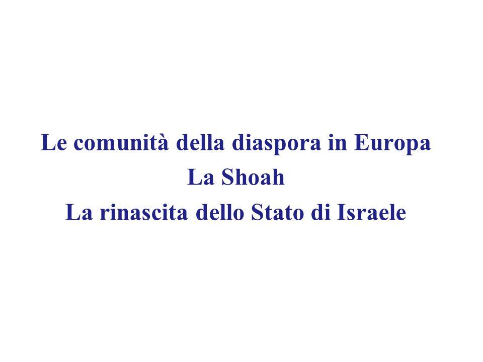 Le comunità della diaspora in Europa La Shoah