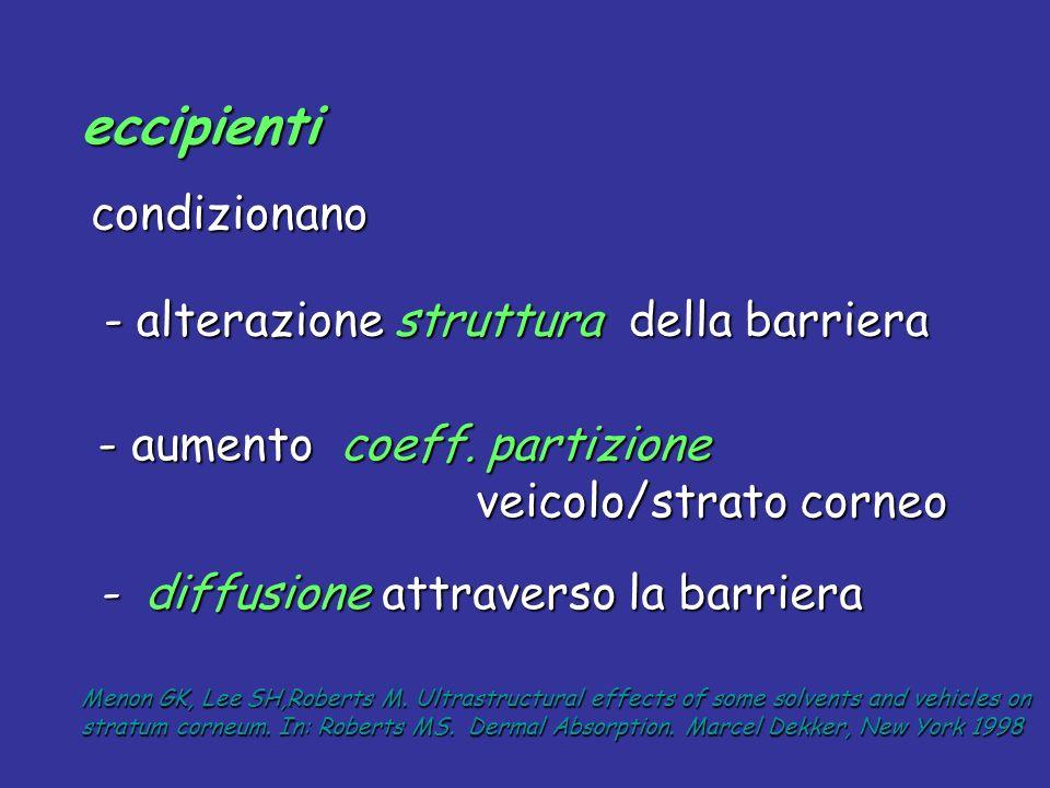 eccipienti - alterazione struttura della barriera
