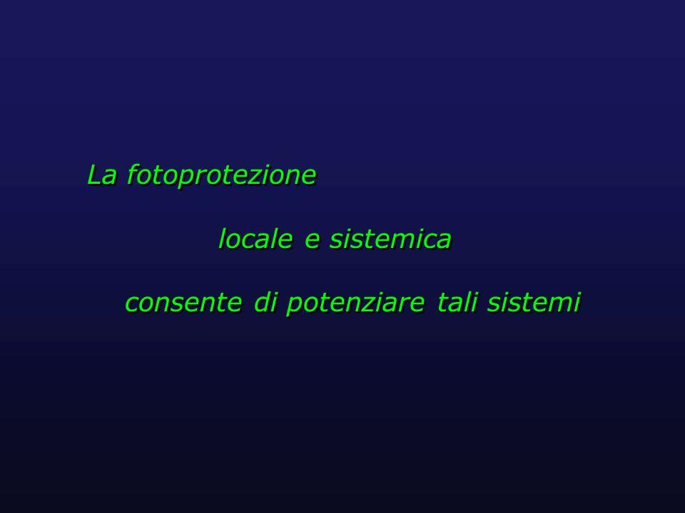 La fotoprotezione locale e sistemica consente di potenziare tali sistemi