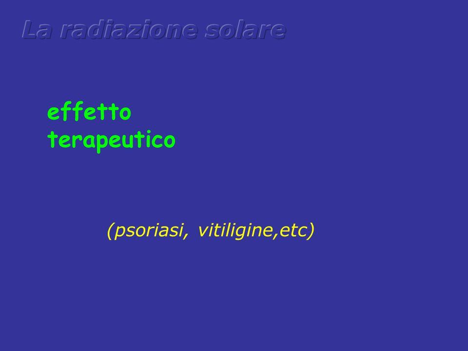 La radiazione solare effetto terapeutico (psoriasi, vitiligine,etc)