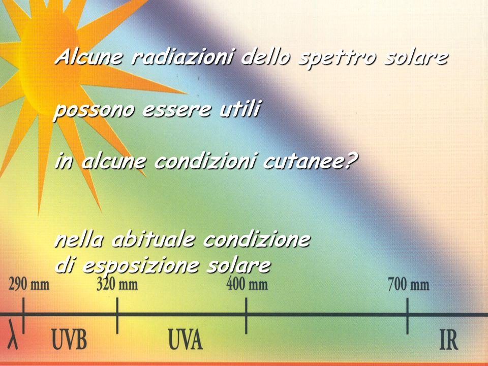 Alcune radiazioni dello spettro solare