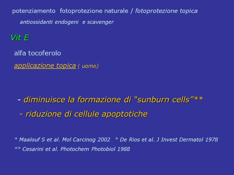 potenziamento fotoprotezione naturale / fotoprotezione topica