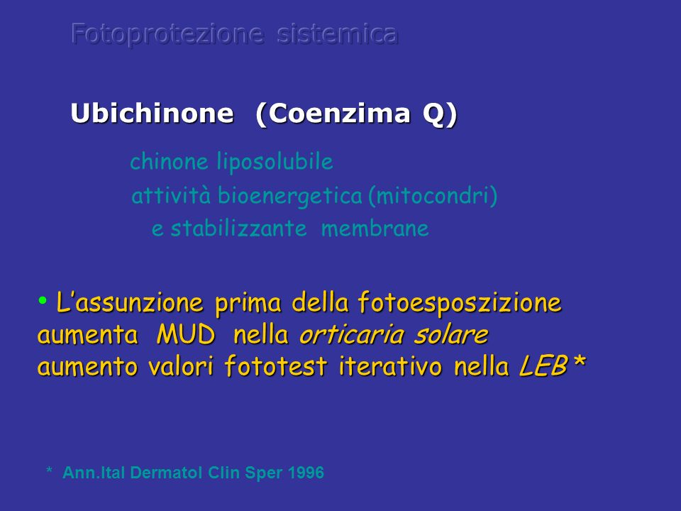 Ubichinone (Coenzima Q)