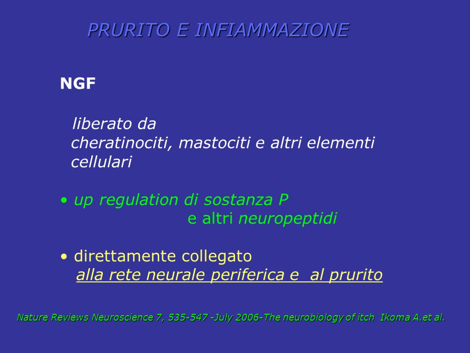 PRURITO E INFIAMMAZIONE