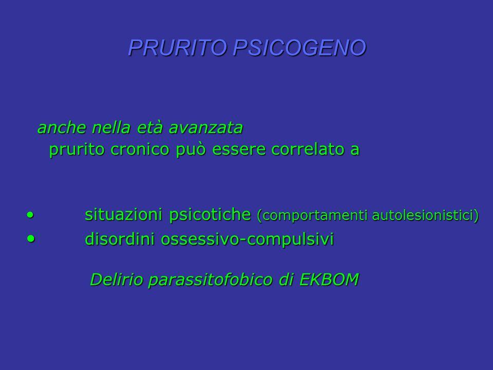 PRURITO PSICOGENO disordini ossessivo-compulsivi