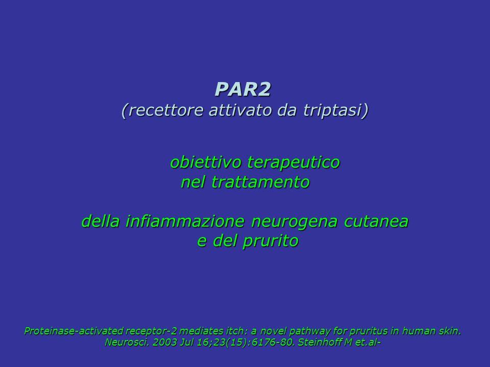 PAR2 (recettore attivato da triptasi) obiettivo terapeutico
