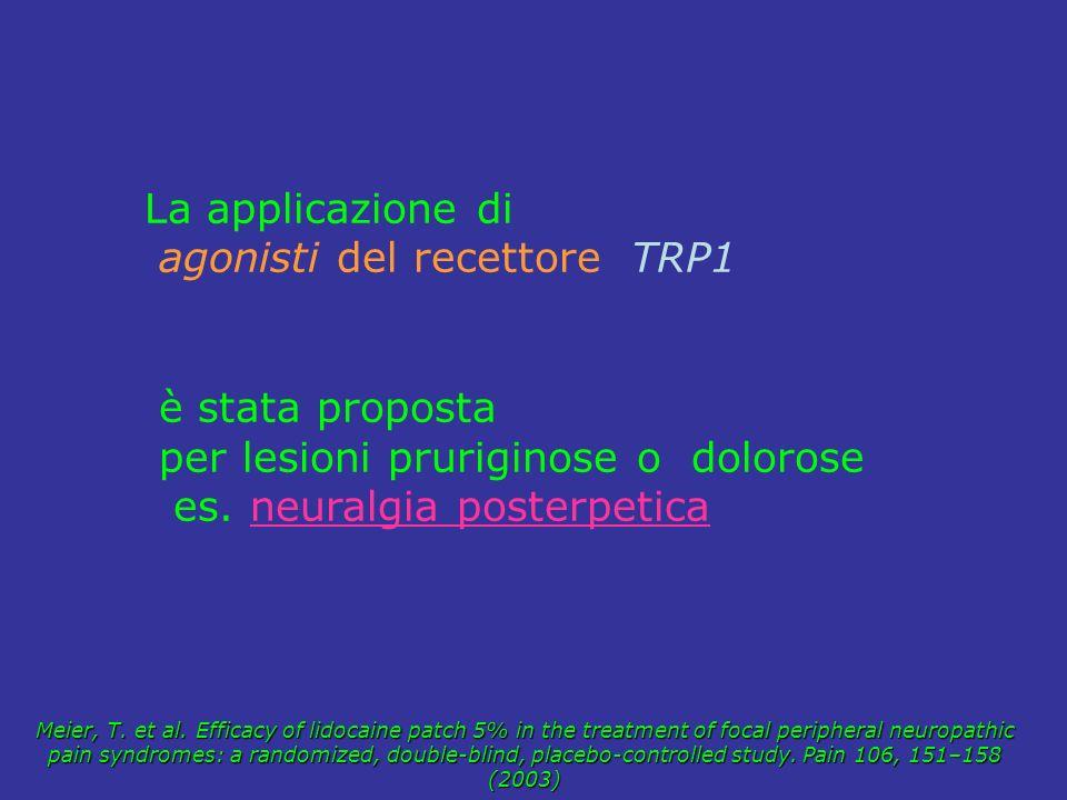 agonisti del recettore TRP1