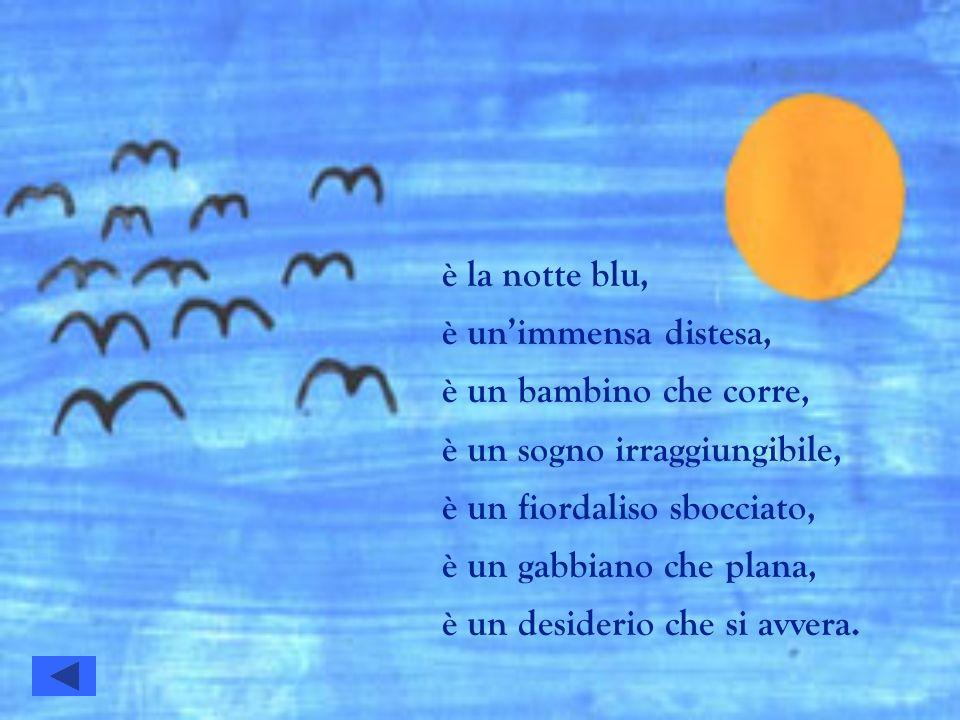 è la notte blu, è un'immensa distesa, è un bambino che corre, è un sogno irraggiungibile, è un fiordaliso sbocciato,