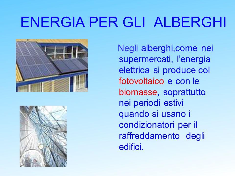 ENERGIA PER GLI ALBERGHI