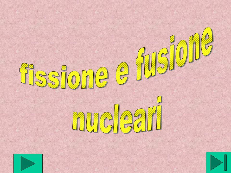 fissione e fusione nucleari