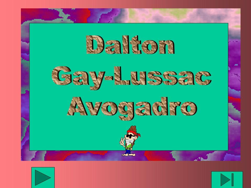 Dalton Gay-Lussac Avogadro