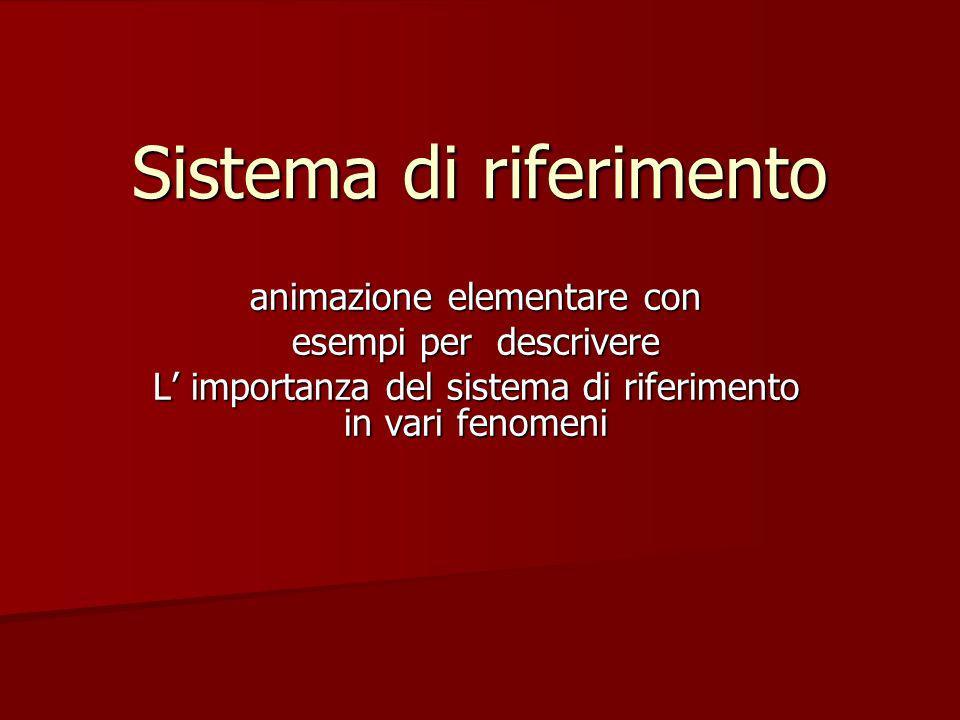Sistema di riferimento