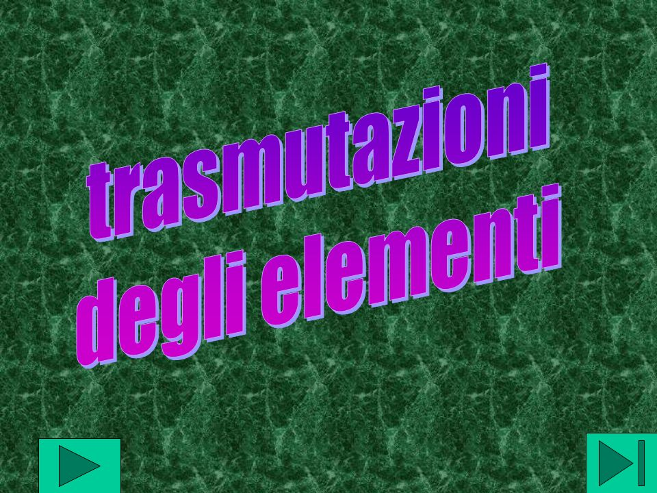 trasmutazioni degli elementi