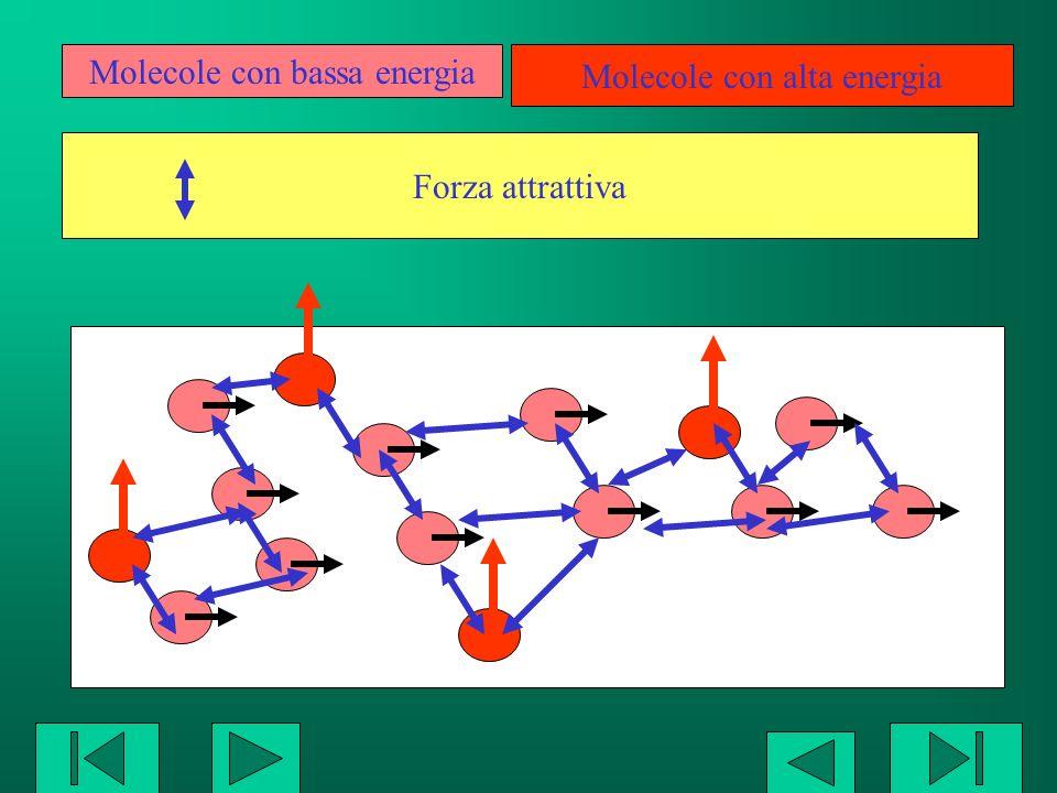 Molecole con bassa energia Molecole con alta energia