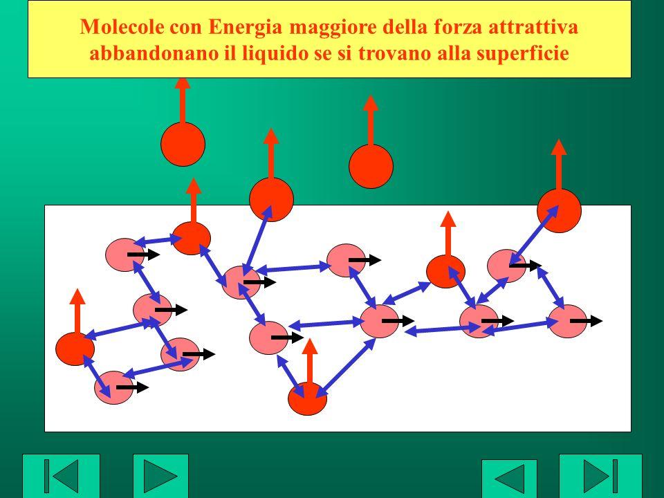 Molecole con Energia maggiore della forza attrattiva