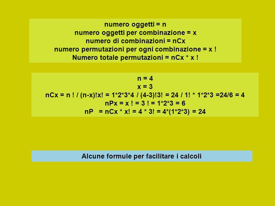 Alcune formule per facilitare i calcoli