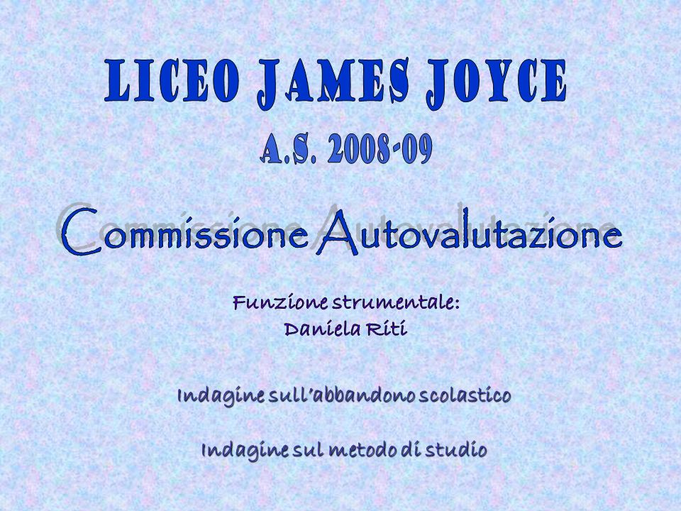 Commissione Autovalutazione