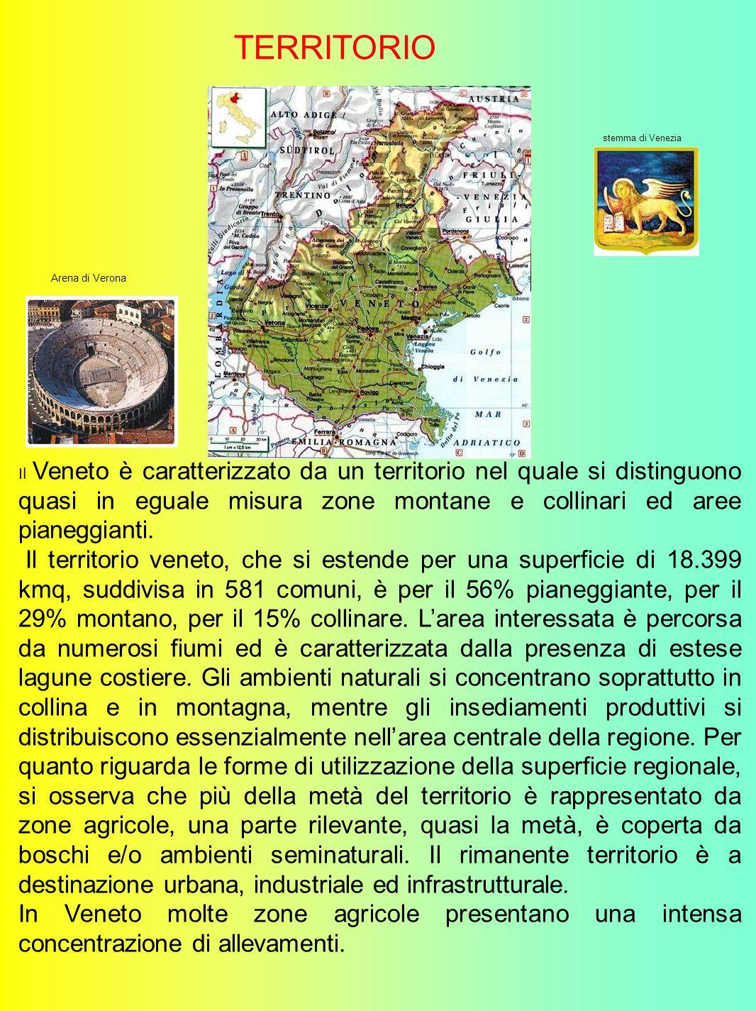 TERRITORIO stemma di Venezia. Arena di Verona.