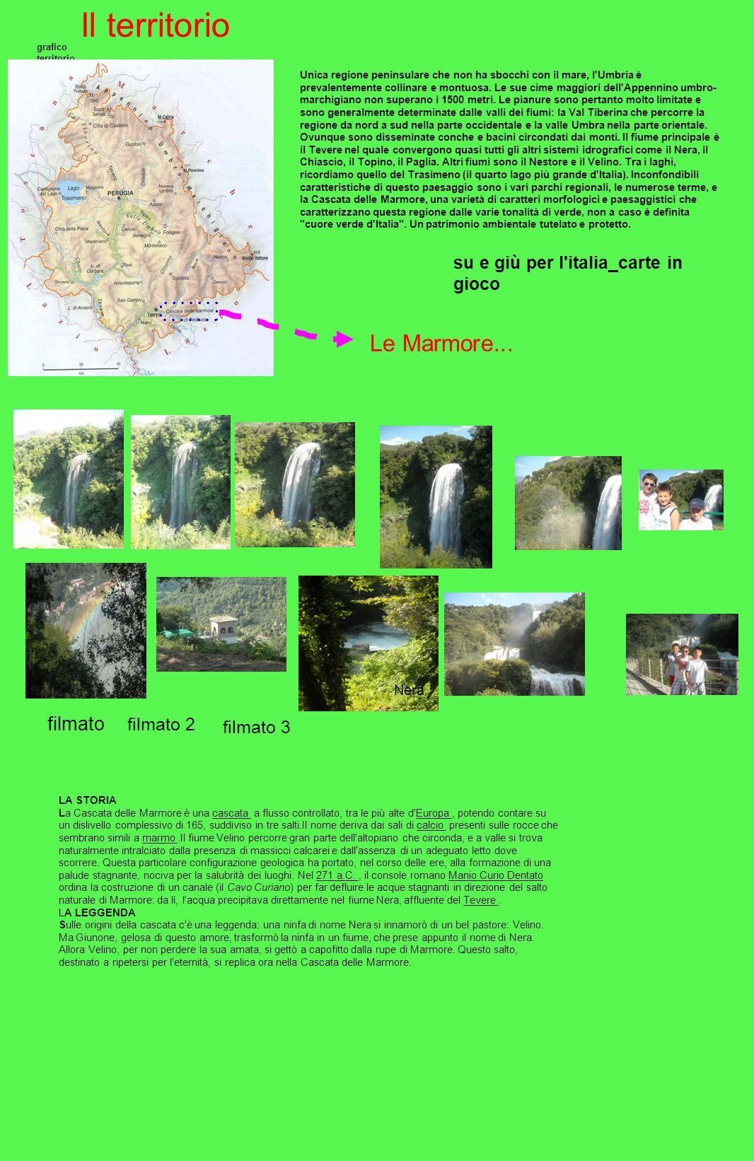 Il territorio Le Marmore... filmato