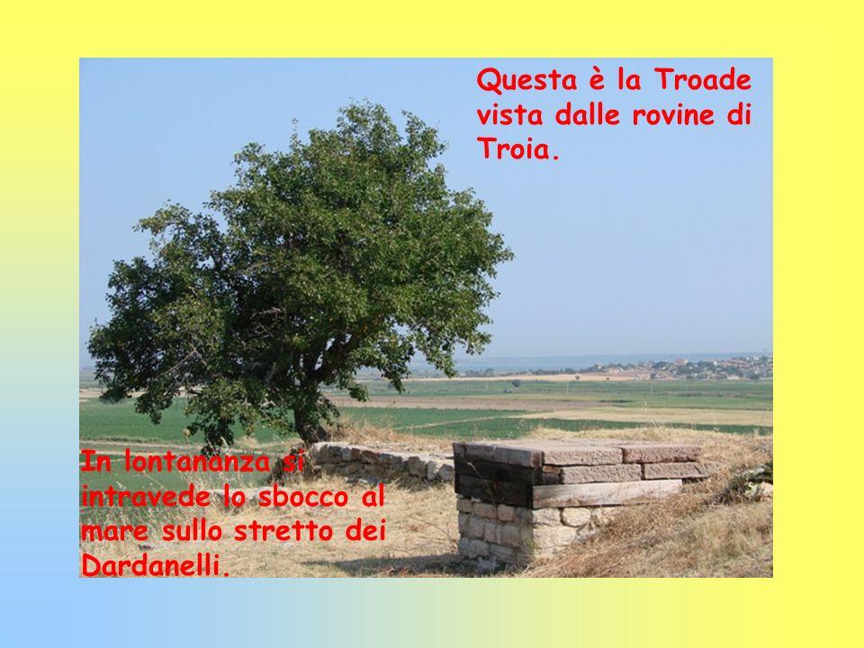 Questa è la Troade vista dalle rovine di Troia.