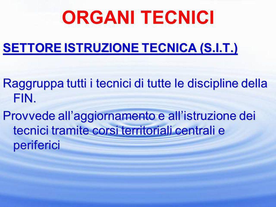 ORGANI TECNICI SETTORE ISTRUZIONE TECNICA (S.I.T.)