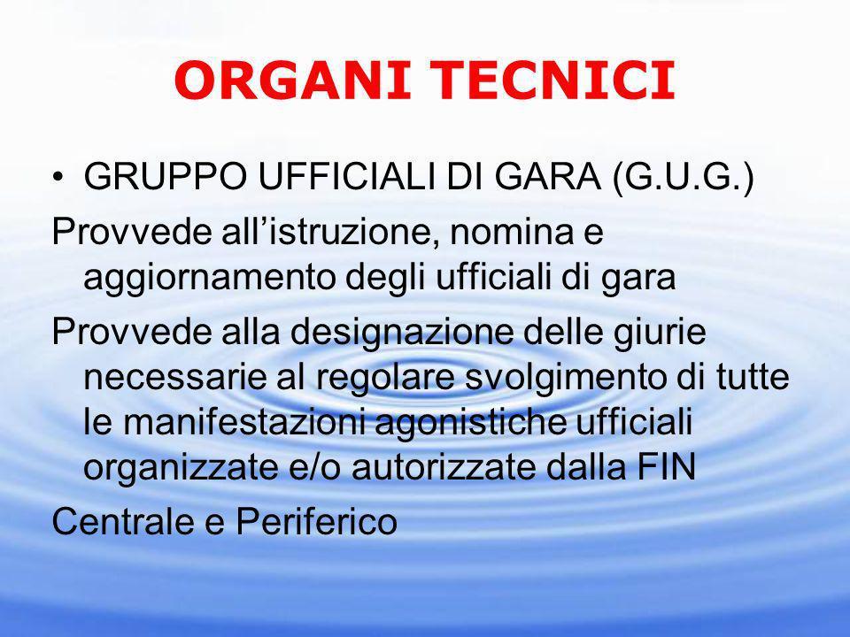 ORGANI TECNICI GRUPPO UFFICIALI DI GARA (G.U.G.)