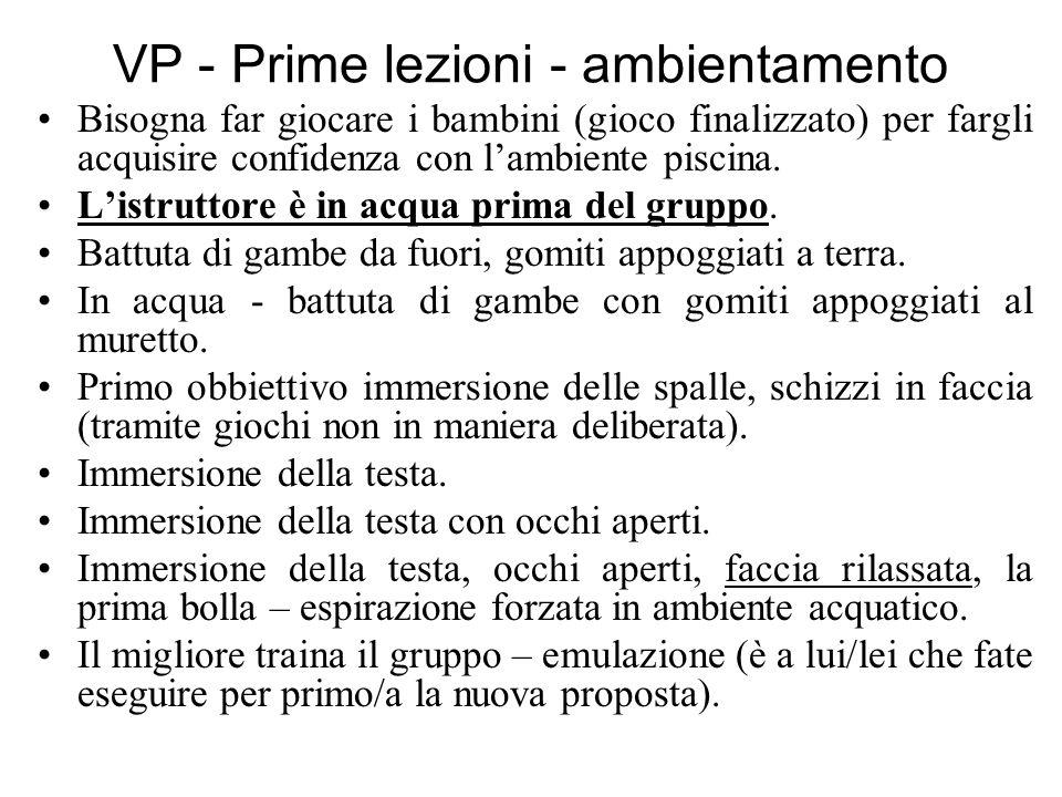 VP - Prime lezioni - ambientamento