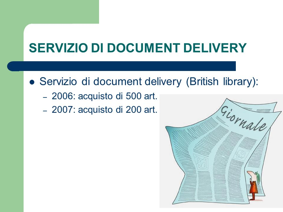 SERVIZIO DI DOCUMENT DELIVERY