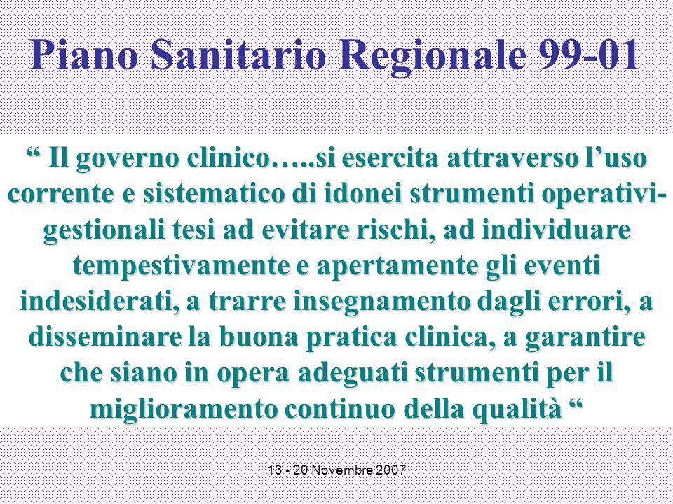 Piano Sanitario Regionale 99-01