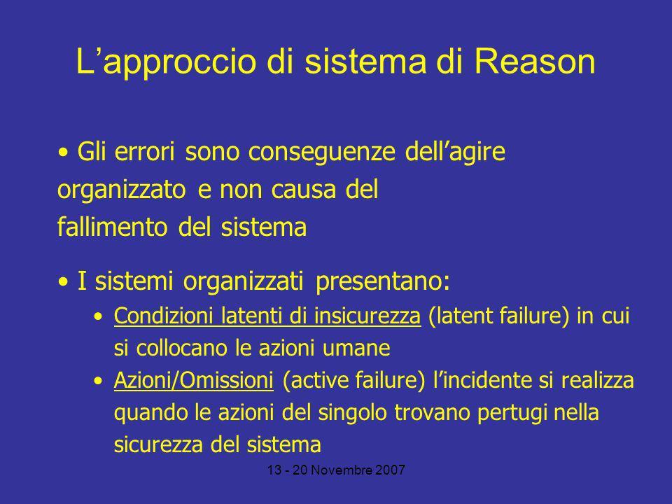 L'approccio di sistema di Reason