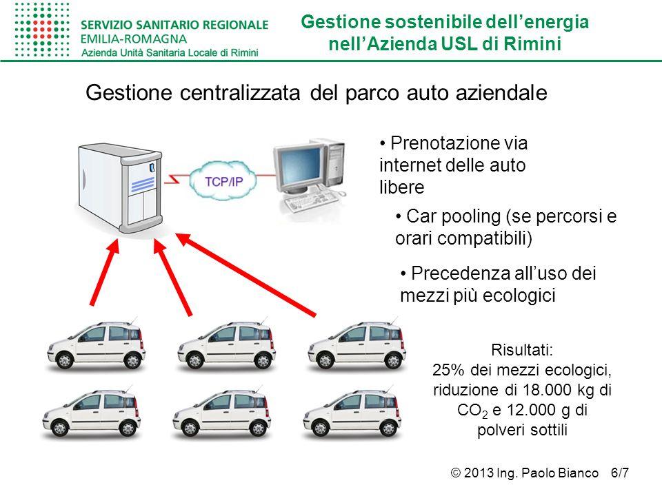 Gestione centralizzata del parco auto aziendale