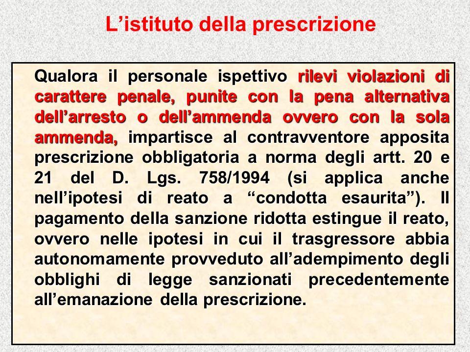 L'istituto della prescrizione