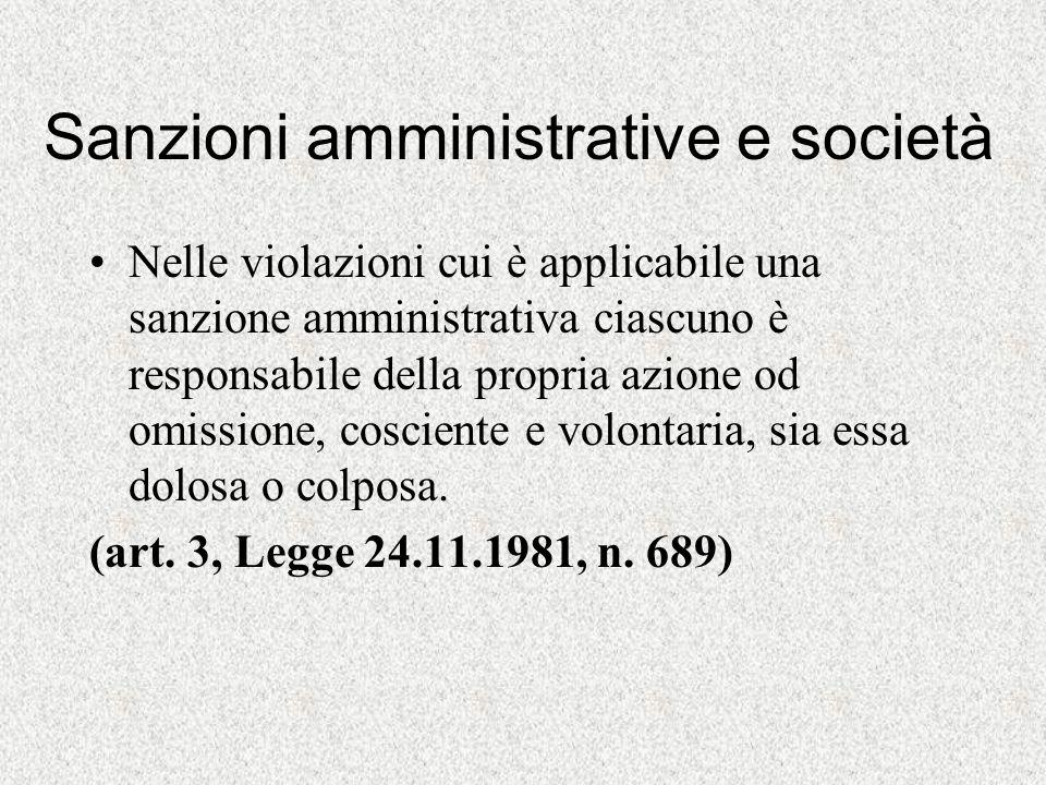 Sanzioni amministrative e società